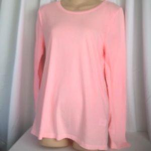 J Crew Pink Tissue Tee Shirt L